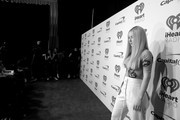 Image has been converted to black and white.) Iggy Azalea poses in the press room during the iHeartRadio Music Festival at T-Mobile Arena on September 21, 2018 in Las Vegas, Nevada.