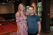 ACM Lifting Lives Executive Director Lyndsay Cruz and Singer-songwriter Hunter Hayes pose during Music Camp Dinner Night at The Wildhorse Saloon on June 14, 2019 in Nashville, Tennessee.