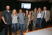 (L-R)  Chris Young, Crystal Dishmon, Paul Barnabee, Joy Williams, Tenille Townes, Ross Copperman, ACM Lifting Lives Executive Director Lyndsay Cruz and Stuart Dill attend ACM Lifting Lives Music Camp Recording Studio Day on June 17, 2019 in Nashville, Tennessee.