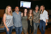 (L-R)  Crystal Dishmon, Paul Barnabee, Joy Williams, Tenille Townes, Ross Copperman and ACM Lifting Lives Executive Director Lyndsay Cruz attend ACM Lifting Lives Music Camp Recording Studio Day on June 17, 2019 in Nashville, Tennessee.