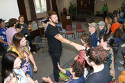 Hillary Scott,Charles Kelley and Dave Haywood of Lady Antebellum join ACM Lifting Lives campers during ACM Lifting Lives Music Camp Songwriting Workshop on June 13, 2019 in Nashville, Tennessee.