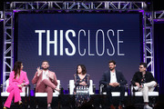 (L-R) Shoshannah Stern, Josh Feldman, Mary Pat Bentel, Austin Nichols and Moshe Kasher of 'This Close' speak onstage during the AMC Networks portion of the Summer 2019 TCA Press Tour on July 25, 2019 in Los Angeles, California.