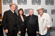 (L-R) John C. Reilly, Fiona Prine, John Prine and Dub Cornett seen backstage during the 2019 Americana Honors & Awards at Ryman Auditorium on September 11, 2019 in Nashville, Tennessee.