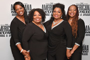 (L-R) Alfreda McCrary, Ann McCrary, Regina McCrary and Deborah McCrary of The McCrary Sisters seen backstage during the 2019 Americana Honors & Awards at Ryman Auditorium on September 11, 2019 in Nashville, Tennessee.