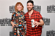 (L-R) Molly Tuttle and Ruston Kelly are seen backstage during the 2019 Americana Honors & Awards at Ryman Auditorium on September 11, 2019 in Nashville, Tennessee.
