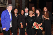 (L-R) Buddy Miller, Regina McCrary, Ann McCrary, Jed Hilly, Mavis Staples, Alfreda McCrary, Maria Muldaur and Deborah McCrary seen backstage during the 2019 Americana Honors & Awards at Ryman Auditorium on September 11, 2019 in Nashville, Tennessee.