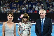 Anna Wintour, Craig Tiley and Jayne Hrdlicka attend the Women's Day Ceremony during day 11 of the 2019 Australian Open at Melbourne Park on January 24, 2019 in Melbourne, Australia.
