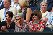 Anna Wintour (R) looks on during the Women's Singles Final match between Petra Kvitova of Czech Republic and Naomi Osaka of Japan during day 13 of the 2019 Australian Open at Melbourne Park on January 26, 2019 in Melbourne, Australia.