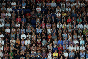 Spectators watch the Women's Singles Final match between Petra Kvitova of the Czech Republic and Naomi Osaka of Japan during day 13 of the 2019 Australian Open at Melbourne Park on January 26, 2019 in Melbourne, Australia.