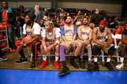 (L-R) 2 Chainz, Tequan Richmond, Sarunas Jackson, Leland B. Martin and Jackie Long play in the BETX Celebrity Basketball Game Sponsored By Sprite during the BET Experience at Los Angeles Convention Center on June 22, 2019 in Los Angeles, California.