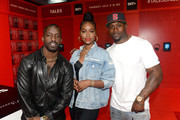 """(L-R) Elijah Kelley, Justine Skye, and Thomas Jones of BET's """"Tales"""" attend World Of BET during the BET Experience Fan Fest at Los Angeles Convention Center on June 22, 2019 in Los Angeles, California."""