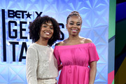 (L-R) Yara Shahidi and Jemele Hill are seen onstage at Generation Genius: From Blackish to Grownish at Genius Talks Sponsored By Credit Karma during the BET Experience at the Los Angeles Convention Center on June 22, 2019 in Los Angeles, California.