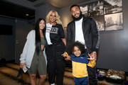 Queen Naija, Mary J. Blige and Clarence White pose backstage at the BET Experience STAPLES Center Concert Sponsored By NISSAN at Staples Center on June 20, 2019 in Los Angeles, California.
