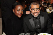 (L-R) Lupita Nyong'o and Jordan Peele attend the 2019 British Academy Britannia Awards presented by Jaguar Land Rover and American Airlines at The Beverly Hilton Hotel on October 25, 2019 in Beverly Hills, California.