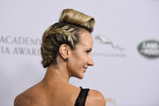 Lady Victoria Hervey, hair detail, attends the 2019 British Academy Britannia Awards presented by American Airlines and Jaguar Land Rover at The Beverly Hilton Hotel on October 25, 2019 in Beverly Hills, California.