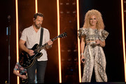 (EDITORIAL USE ONLY) Jimi Westbrook and Kimberly Schlapman of Little Big Town perform on stage during day 2 for the 2019 CMA Music Festival on June 07, 2019 in Nashville, Tennessee.