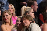 Julia Michaels and Keith Urban attend the 2019 CMT Music Awards at Bridgestone Arena on June 05, 2019 in Nashville, Tennessee.