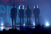 (L-R) Jimi Westbrook, Kimberly Schlapman, Karen Fairchild and Philip Sweet of Little Big Town perform onstage at the 2019 CMT Music Awards at Bridgestone Arena on June 05, 2019 in Nashville, Tennessee.