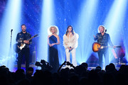 (L-R) Jimi Westbrook, Kimberly Schlapman, Karen Fairchild and Phillip Sweet of musical group Little Big Town perform the 2019 CMT Music Awards at Bridgestone Arena on June 05, 2019 in Nashville, Tennessee.