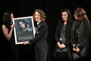 (L-R) Leslie Fram, Brandi Carlile, Brandy Clark and Tracy Gershon seen onstage during the 2019 CMT Next Women Of Country at CMA Theater at the Country Music Hall of Fame and Museum on November 12, 2019 in Nashville, Tennessee.