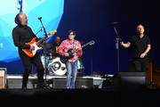 Roland Orzabal of Tears For Fears, Rivers Cuomo and Patrick Wilson of Weezer and Curt Smith of Tears for Fears perform at Coachella Stage during the 2019 Coachella Valley Music And Arts Festival on April 13, 2019 in Indio, California.