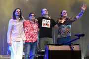 Brian Bell, Rivers Cuomo, Patrick Wilson, Scott Shriner of Weezer perform at Coachella Stage during the 2019 Coachella Valley Music And Arts Festival on April 13, 2019 in Indio, California.