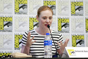Deborah Ann Woll speaks at the All Things RPG-E: Geek & Sundry panel during 2019 Comic-Con International at San Diego Convention Center on July 18, 2019 in San Diego, California.