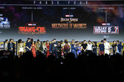 The Marvel Cinematic Universe Phase Four is announced with cast members during the Marvel Studios Panel during 2019 Comic-Con International at San Diego Convention Center on July 20, 2019 in San Diego, California.