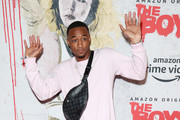 """Jessie T. Usher attends 2019 Comic-Con International - Red Carpet For """"The Boys"""" on July 19, 2019 in San Diego, California."""