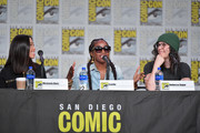 """Michaela Dietz, Estelle, and Rebecca Sugar speak at the """"Steven Universe"""" Panel during 2019 Comic-Con International at San Diego Convention Center on July 19, 2019 in San Diego, California."""
