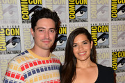 Ben Feldman and America Ferrera attend 'Superstore' press line at Hilton Bayfront on July 18, 2019 in San Diego, California.