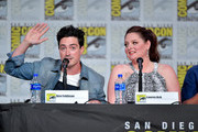 Ben Feldman and Lauren Ash speak at the TV Guide Magazine Fan Favorites 2019 during 2019 Comic-Con International at San Diego Convention Center on July 19, 2019 in San Diego, California.