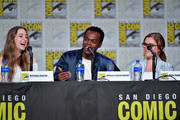 (L-R)  Brittany Curran, William Jackson Harper, and Eliza Taylor speak at the TV Guide Magazine Fan Favorites 2019 during 2019 Comic-Con International at San Diego Convention Center on July 19, 2019 in San Diego, California.