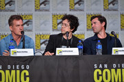 Maury Sterling, Geoffrey Arend, Sean Maher speak during the World Premiere Of 'Batman: Hush' during 2019 Comic-Con International at San Diego Convention Center on July 19, 2019 in San Diego, California.