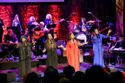 (L-R) Ann McCrary, Deborah McCrary, Regina McCrary and Alfreda McCrary of The McCrary Sisters perform onstage during the 2019 Country Music Hall of Fame Medallion Ceremony at Country Music Hall of Fame and Museum on October 20, 2019 in Nashville, Tennessee.