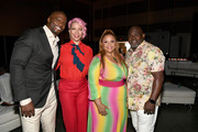 Terry Crews, Rebecca King Crews, Tamela Mann, and David Mann attend 2019 ESSENCE Festival Presented By Coca-Cola at Ernest N. Morial Convention Center on July 05, 2019 in New Orleans, Louisiana.