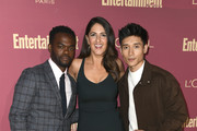 (L-R) William Jackson Harper, D'Arcy Carden, and Manny Jacinto attend the 2019 Entertainment Weekly Pre-Emmy Party at Sunset Tower on September 20, 2019 in Los Angeles, California.