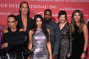 Michèle Lamy, Rick Owens, Kim Kardashian West, Kanye West, Maryanne Grisz and Nina Garcia attend the 2019 FGI Night Of Stars Gala at Cipriani Wall Street on October 24, 2019 in New York City.