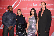 Kanye West, Michèle Lamy, Kim Kardashian West and RIck Owens attend the 2019 FGI Night Of Stars Gala at Cipriani Wall Street on October 24, 2019 in New York City.