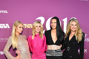 Paris Hilton, Nicky Hilton Rothschild, Adriana Lima, and Christie Brinkley attend the 2019 FN Achievement Awards at IAC Building on December 03, 2019 in New York City.