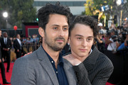 """(L-R) Andy Bean and Wyatt Oleff attend the Premiere of Warner Bros. Pictures' """"It Chapter Two"""" at Regency Village Theatre on August 26, 2019 in Westwood, California."""