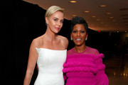 Charlize Theron and Tamron Hall attends the 2019 Glamour Women Of The Year Awards at Alice Tully Hall on November 11, 2019 in New York City.