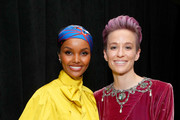 Halima Aden and Megan Rapinoe attends the 2019 Glamour Women Of The Year Awards at Alice Tully Hall on November 11, 2019 in New York City.