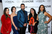 Kal Penn and The Women of RAICES (Lucia Allain, Mayra Jimenez, Andrea Meza, and Erika Andiola) attend the 2019 Glamour Women Of The Year Awards at Alice Tully Hall on November 11, 2019 in New York City.