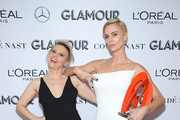 Kate McKinnon and Charlize Theron attends the 2019 Glamour Women Of The Year Awards at Alice Tully Hall on November 11, 2019 in New York City.
