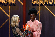 Tory Burch and Danai Gurira speak onstage at the 2019 Glamour Women Of The Year Awards at Alice Tully Hall on November 11, 2019 in New York City.