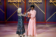 Tory Burch and Danai Gurira are seen onstage at the 2019 Glamour Women Of The Year Awards at Alice Tully Hall on November 11, 2019 in New York City.