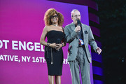 Taraji P. Henson and U.S. Representative, NY 16th District, Eliot Engel speak onstage during the 2019 Global Citizen Festival: Power The Movement in Central Park on September 28, 2019 in New York City.