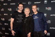 Hugh Jackman, Deborra-lee Furness, and Global Citizen CEO Hugh Evans attend the 2019 Global Citizen Festival: Power The Movement in Central Park on September 28, 2019 in New York City.