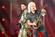 Adam Lambert and Brian May of Queen perform onstage during the 2019 Global Citizen Festival: Power The Movement in Central Park on September 28, 2019 in New York City.